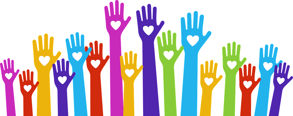 Volunteering Hands Clipart